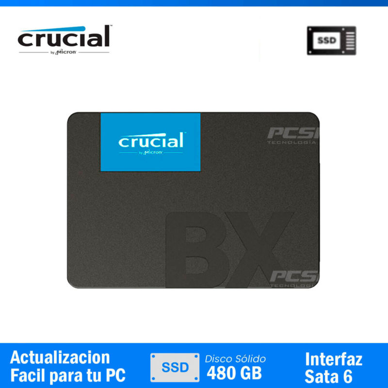 DISCO SOLIDO CRUCIAL 480GB ( BX500 )pcspeed