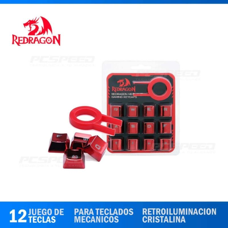 Keycaps-Redragon-A103R-Red-Pcspeed
