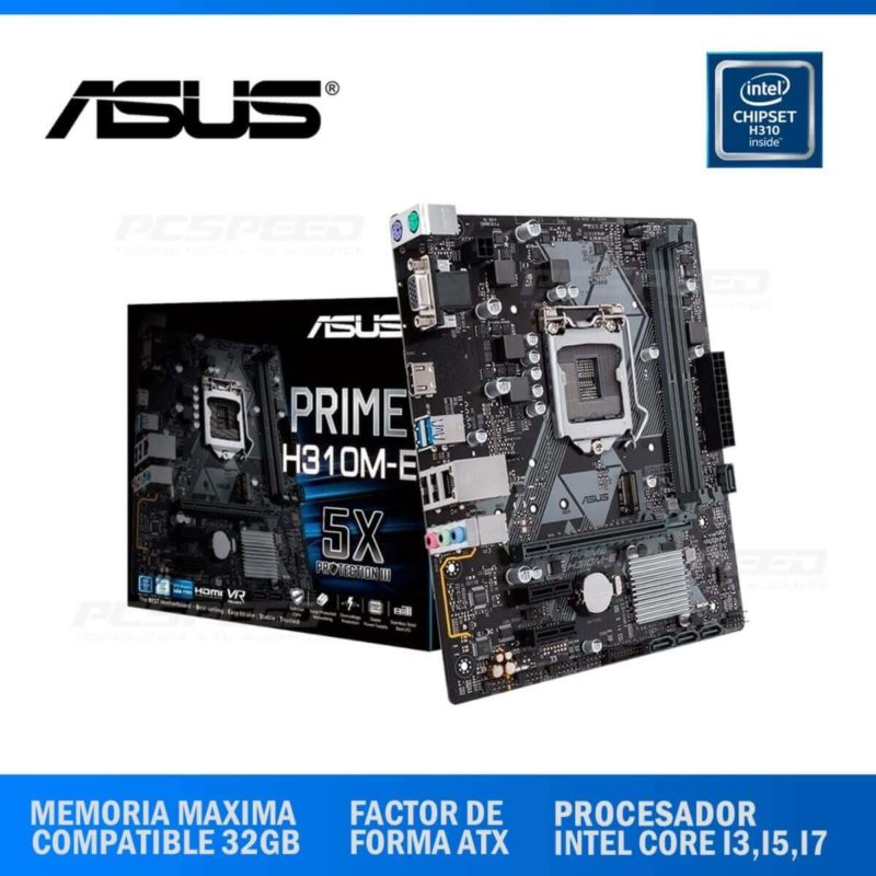 MAINBOARD ASUS H310M-E R2.0 (90MB0Z20-M0EAY0)